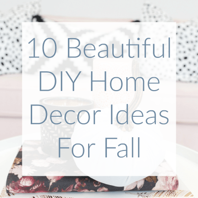 After scouring the interweb, I have found some of the most beautiful DIY projects for fall; I just had to share! Here are 10 beautiful decor ideas for Fall.