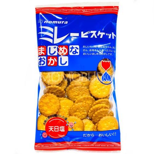 Japanese Nomura Sea Salt Millet Biscuit Pack 130g