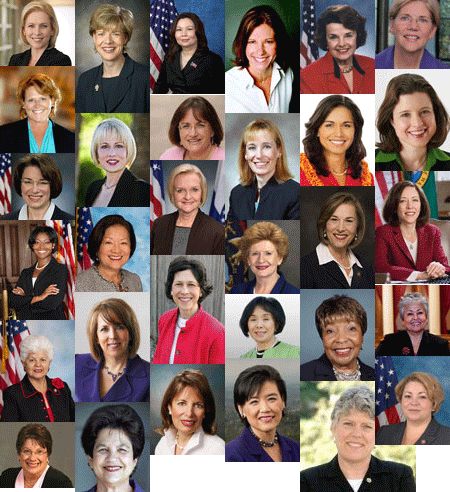 Just a few of the women elected in 2012