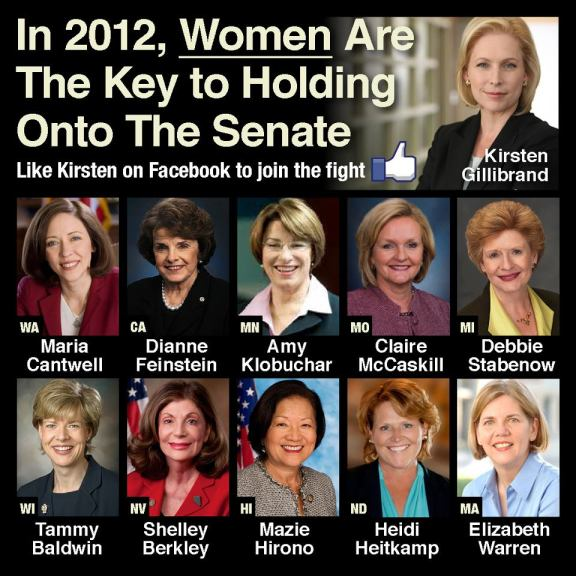 In 2012, Women Are Key to Holding Onto the Senate