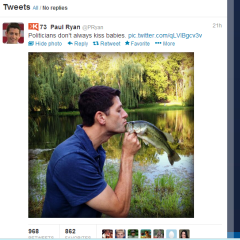 Paul Ryan Kisses a Fish, Rick Perry Loves Big Government.