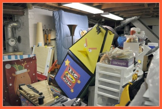 Declutter your life challenge- the basement project- another view