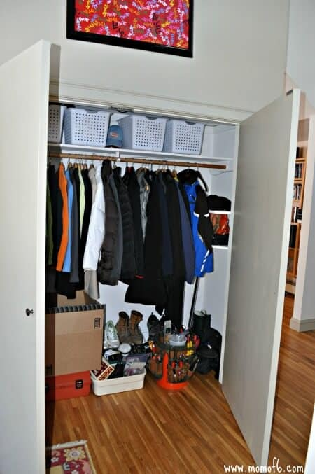 Mud Room- our coat closet