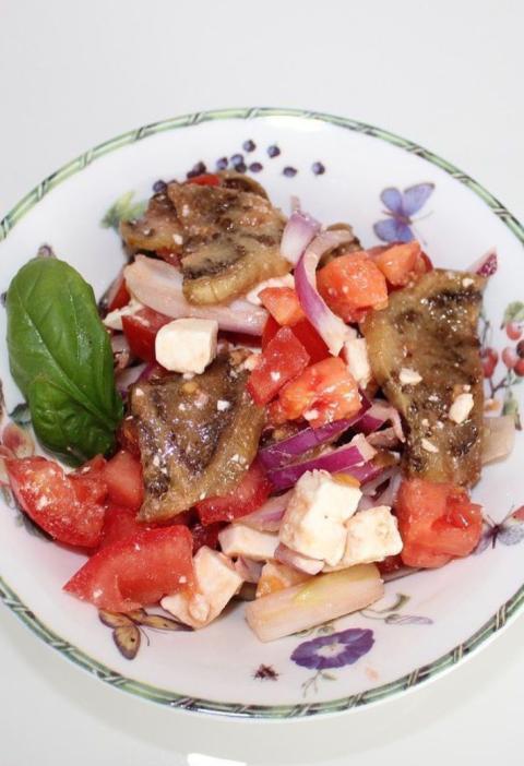 Delicious eggplant salad