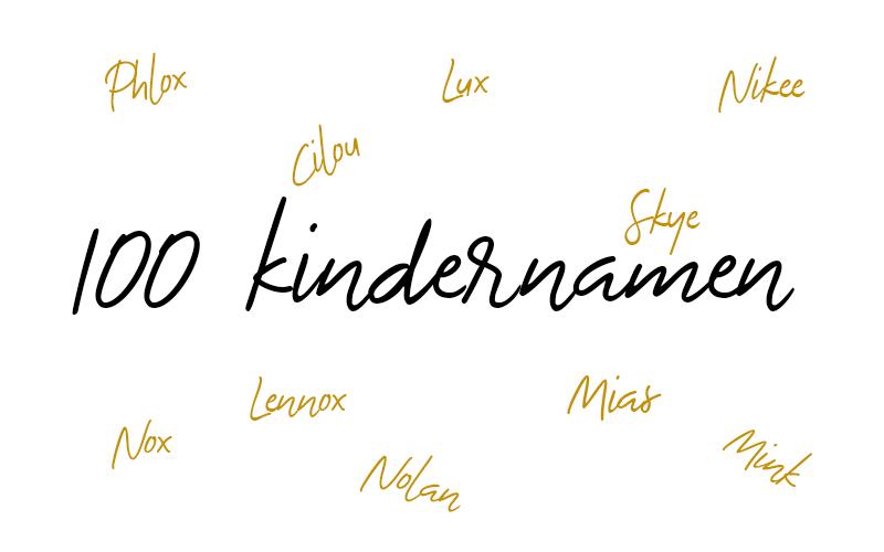100 unieke & bijzondere kindernamen
