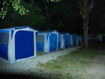 """Our """"hostel"""" during our stay... AKA - tent city!"""