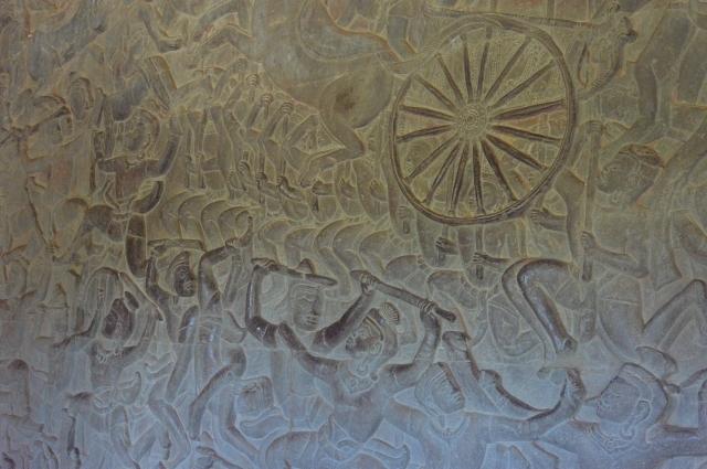 アンコールワット回廊の壁画-10.30.35