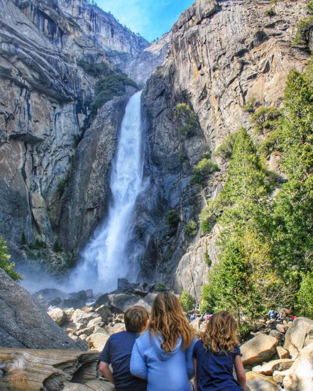 Kids at Yosemite Falls