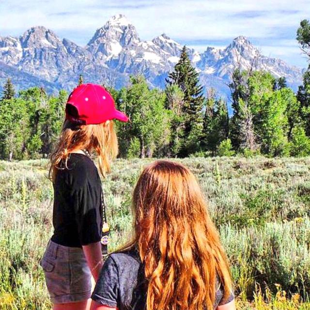 Girls at Grand Teton