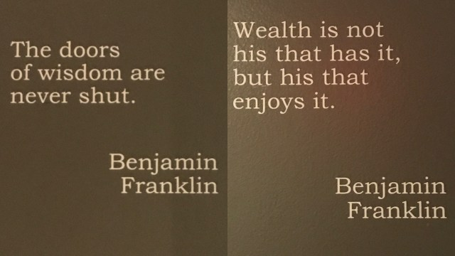Quotes on the elevator doors