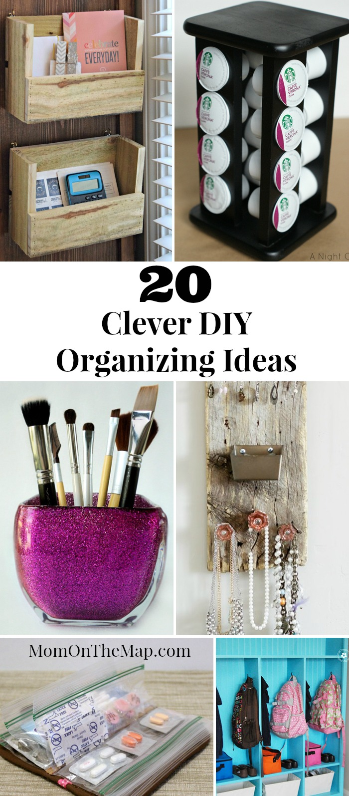 20 Clever DIY Organizing Ideas