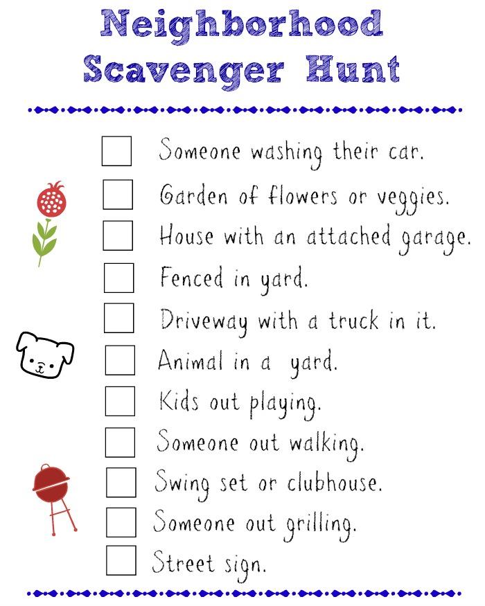 Scavenger Tween Hunt Girls