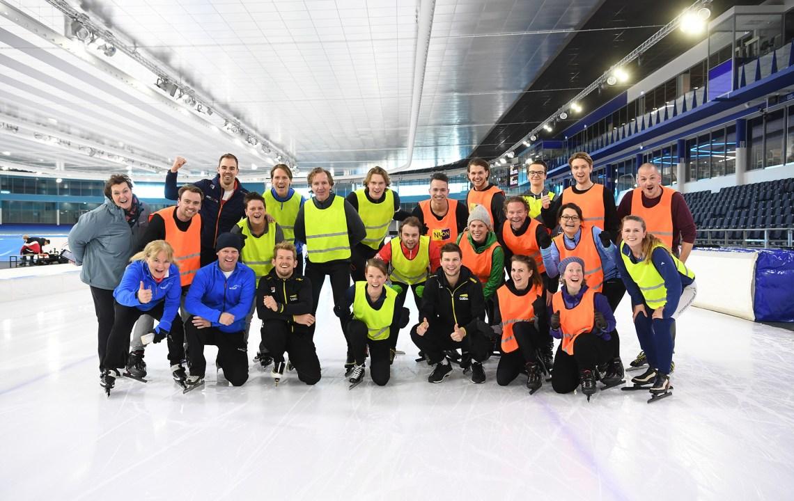 Ik leerde bijna schaatsen van Sven Kramer