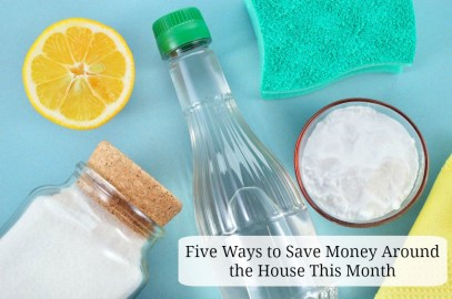 Five Ways to Save Money Around the House This Month