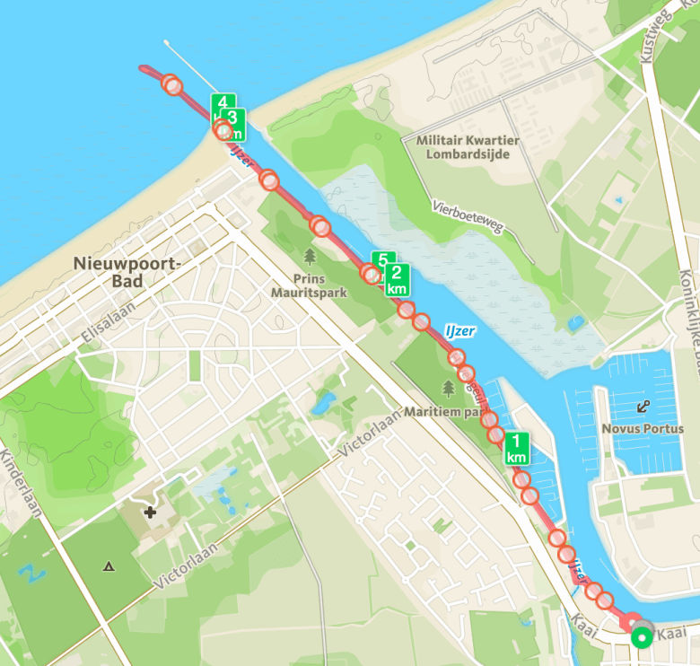 Looproute Mom Runs The City met Nathalie in Nieuwpoort