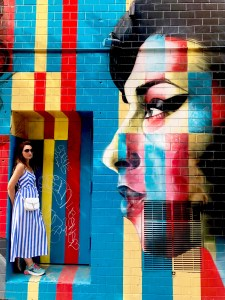Street art Lower East Side, New York. Amy Winehouse, Kobra.