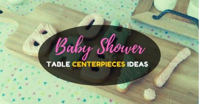 Homemade baby shower decorations for tables