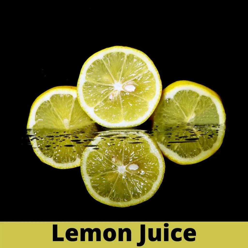 Apply some lemon juice