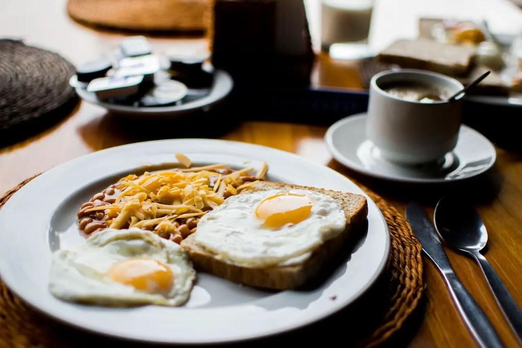 beans, breakfast, fried eggs for Thyroid