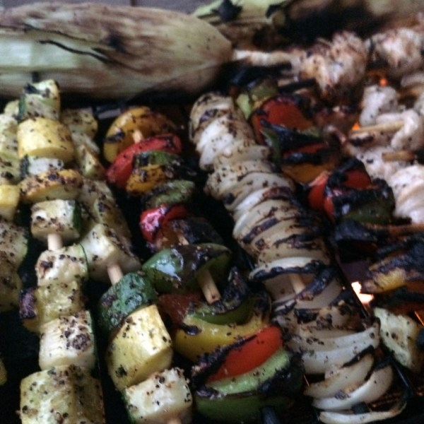 grilled chicken and vegetable skewers mothers day recipe moms bistro easy recipe