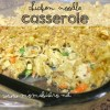 chicken noodle casserole recipe leftover chicken easy kid friendly dinner idea moms bistro