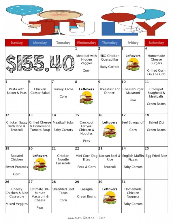 What' For Dinner In December? 31 Days of Kid-Friendly ...