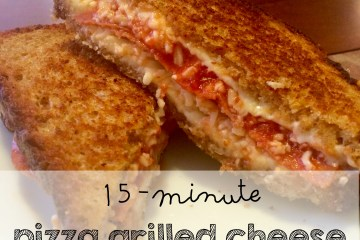 15 minute pizza grilled cheese recipe moms bistro