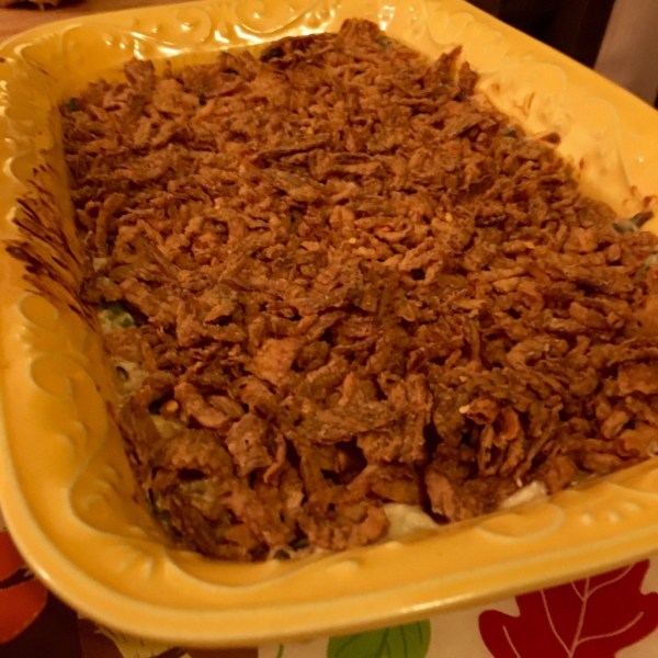 homemade green bean casserole recipe thanksgiving cream of mushroom soup scratch #foolproofthanksgiving best ever