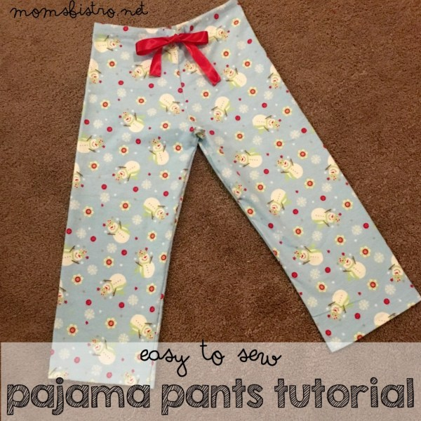 homemade diy easy to sew pajama pants for beginners tutorial pattern susies fabrics christmas jammies gift handmade