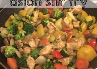 quick and simple stir fry asian salad dressing week night meal dinner, variations moms bistro stirfry rice