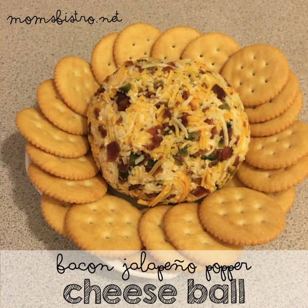 bacon jalapeno popper cheeseball recipe christmas appetizer easy