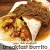 Green Chile Smothered breakfast Burrito