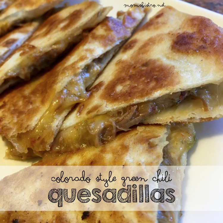 green chili quesadilla