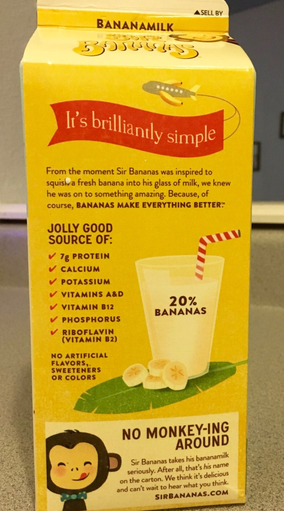 sir bananas banana milk review