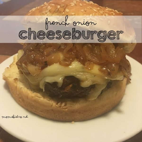 french onion cheeseburger