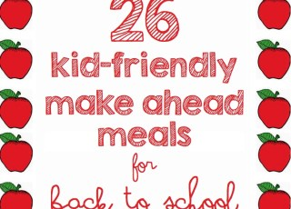 back to school make ahead meals