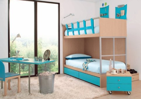 organize your kids' room with bunk beds