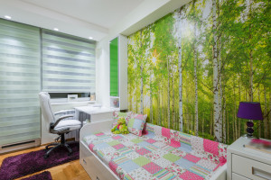 Paint outside the box: Paint mural in your child's bedroom