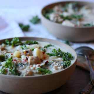 INSTANT POT Sausage & Kale Potato Soup