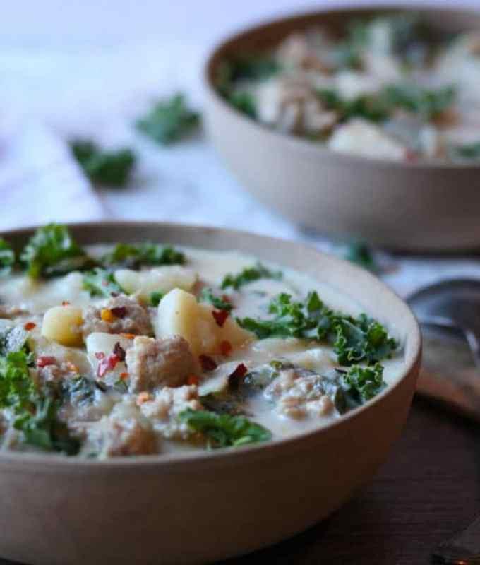INSTANT POT Sausage & Kale Potato Soup