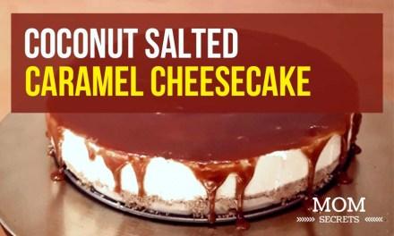 No Bake Cheesecake Recipe – Salted Caramel Coconut Cheesecake