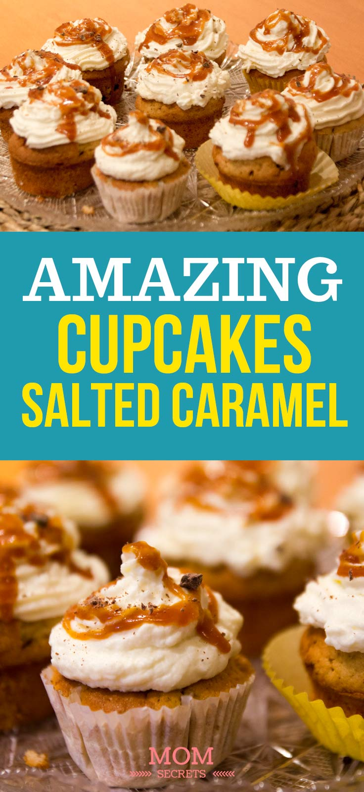 Try this amazing Banana Vanilla Cupcakes Recipe with Salted Caramel - my kids just love it! The preparation time is just 30 min and the recipe is very inexpensive - you have all the ingredients at home, you can even use overripe bananas!