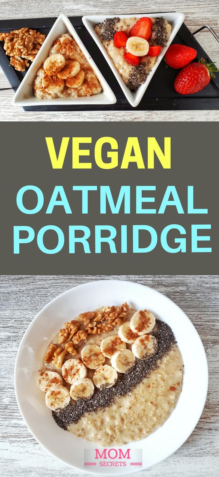 This creamy banana porridge is simply the best breakfast! It's an easy, quick and healthy recipe. Banana oatmeal porridge makes a brilliant vegan breakfast!