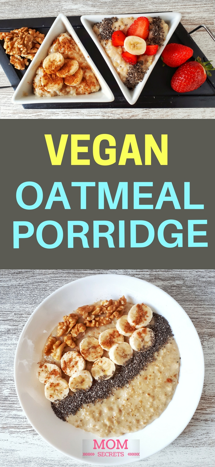 This creamy banana porridge is simply the best breakfast! It's an easy, quick and healthy recipe. Banana oatmeal porridge makes a brilliant vegan breakfast!