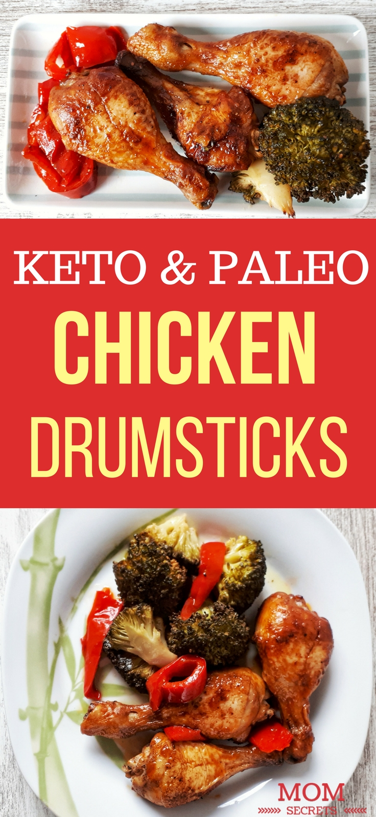 These baked chicken drumsticks are a perfect low carb, glúten-free, and paleo dinner. They are tasty, delicious and so easy to make. These chicken legs are coated in a flavorful paprika marinade, then baked to perfection!