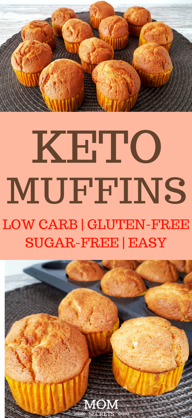 These low carb keto muffins are perfect as one of your Keto breakfast recipes. They are easy to make and healthy. They have such an amazing orange flavor. Ketogenic diet recipes can be fast! Try this low carb keto dessert or use them as Keto snacks when you need energy during the day! I used almond flour but you can replace it with coconut flour as well and stay fit on your Keto diet!