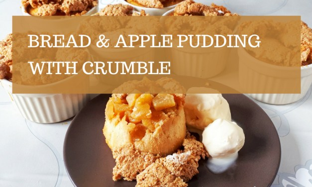 Bread & Apple Pudding with Crumble