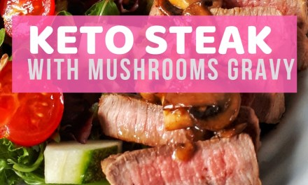 Keto Grilled Steak Recipe with Mushrooms Gravy