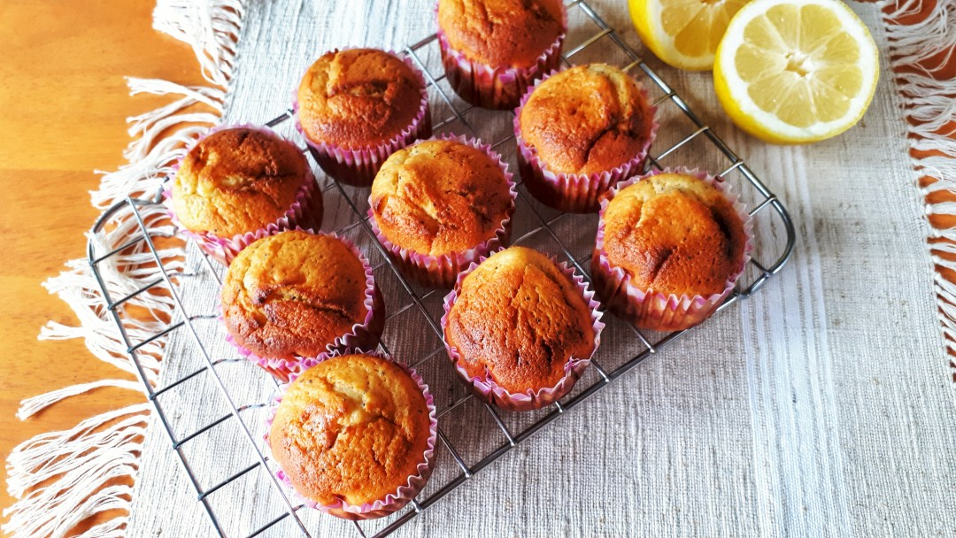 Lemon poppyseeds muffins made with Greek yogurt are keto, low carb, sugar-free and super moist. This are the best muffins recipe!