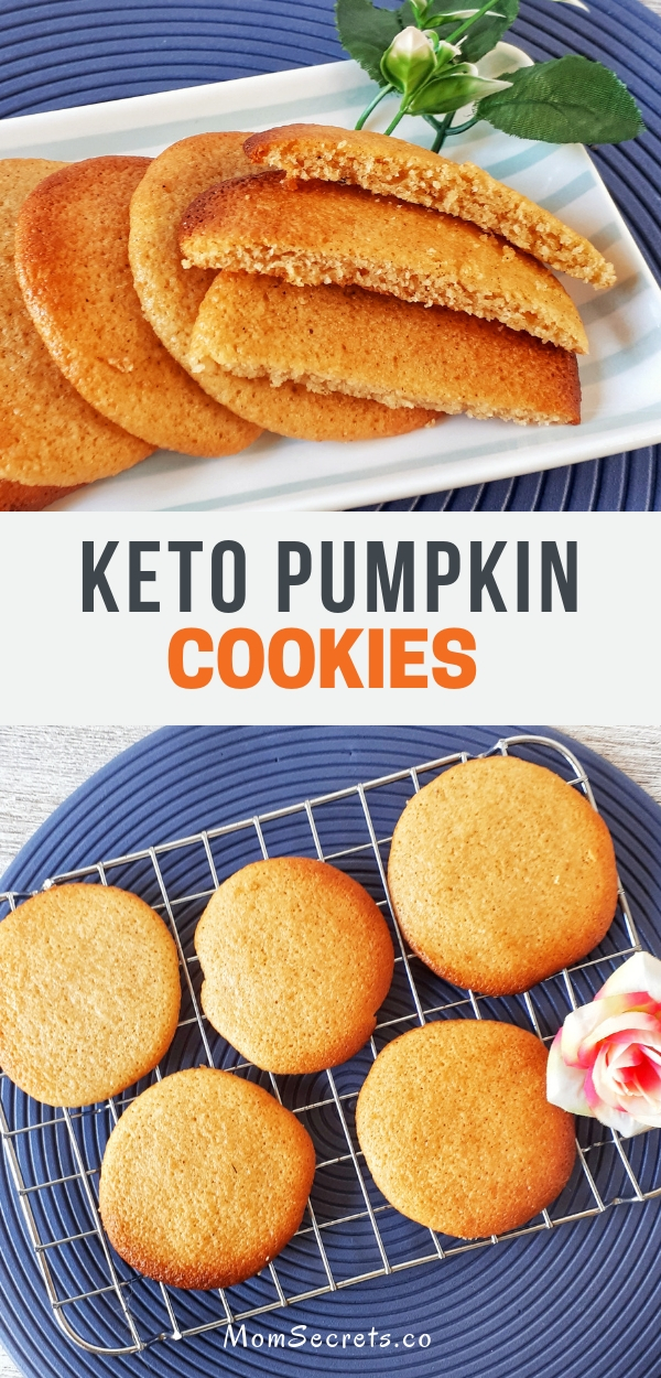 These cookies have a soft and fluffy texture. Pumpkin cookies are Keto, low carb, sugar-free, grain-free and taste so delicious!